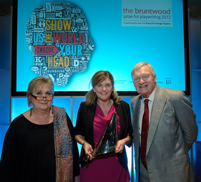 Anna with judges Dame Jenni Murray and Michael Oglesby OBE
